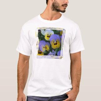 Violas azuis e amarelas camiseta