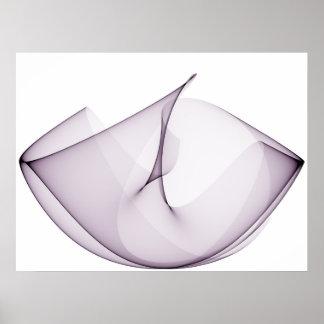 Violeta das curvas de seno três da arte Op Impressão