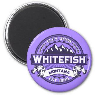 Violeta do logotipo do peixe branco ima