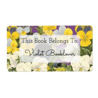 Violetas do Bookplate e etiqueta feita sob