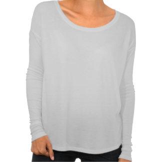 Violetas malva pálidas no t-shirt Longo-sleeved