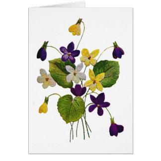 Violetas selvagens Assorted feitas no bordado do Cartão