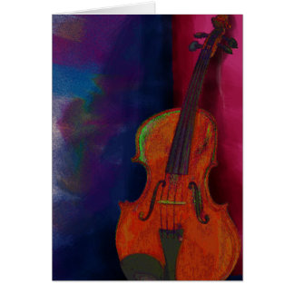 Violino Cartao