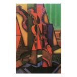 Violino e guitarra por Juan Gris, Cubism do vintag Impressão