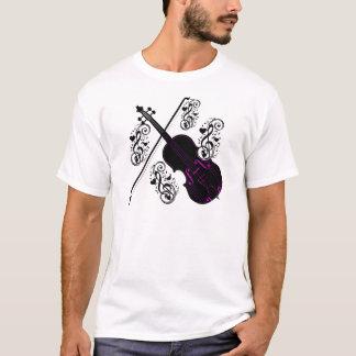 Violino, love_ de balanço camiseta
