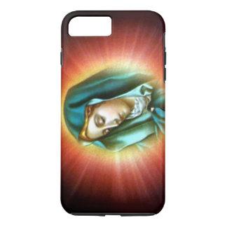 Virgem Maria abençoada - brilho claro em cima de Capa iPhone 7 Plus