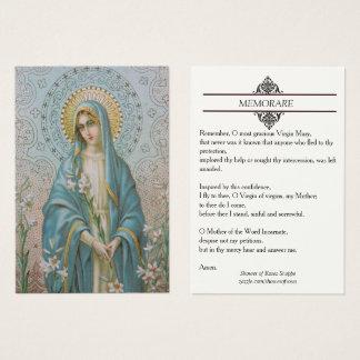 Virgem Maria abençoada com o cartão santamente de