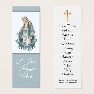 Virgem Maria abençoada com o mini cartão