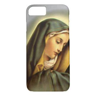Virgem Maria abençoada dolorosa na oração Capa iPhone 7