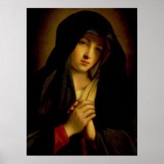 Virgem Maria abençoada - mãe do deus Poster