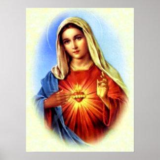 Virgem Maria abençoada - mãe do deus Pôster