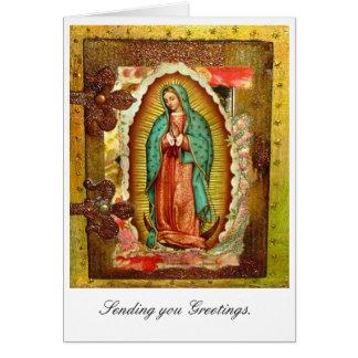 Virgem Maria Cartão Comemorativo
