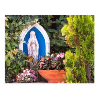 Virgem Maria com o cartão de Capri Italia das