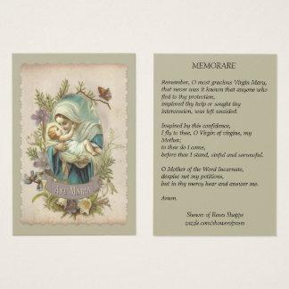 Virgem Maria com o cartão santamente de Jesus