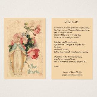 Virgem Maria com o cartão santamente floral de