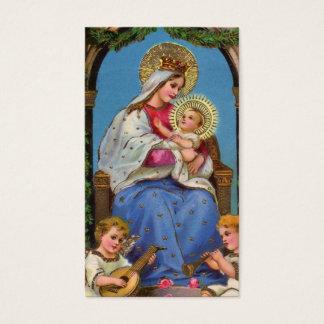 Virgem Maria e bebê Jesus Cartão De Visitas