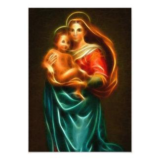 Virgem Maria e bebê Jesus Convite 12.7 X 17.78cm