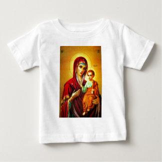 Virgem Maria e Jesus Camiseta Para Bebê