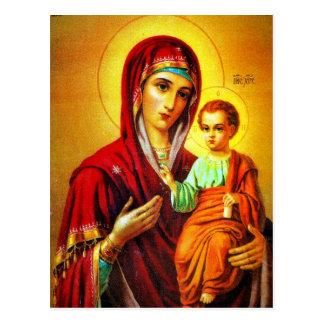 Virgem Maria e Jesus Cartão Postal