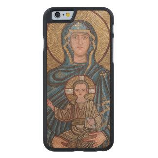 Virgem Maria e mosaico de Jesus