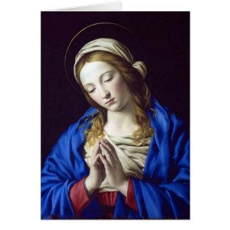 Virgem Maria no cartão da oração