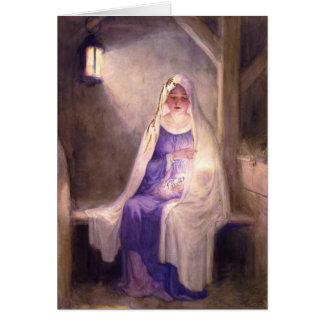 Virgem Maria que guardara o bebê Jesus 1912 Cartão Comemorativo