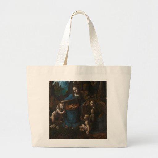 Virgin das rochas por Leonardo da Vinci Bolsa Para Compras