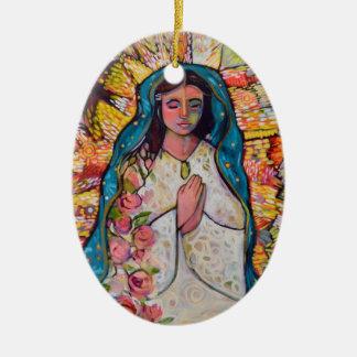 Virgin de enfeites de natal de Guadalupe