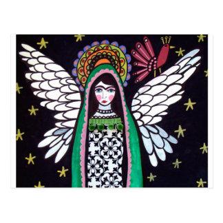 Virgin do anjo da arte de Guadalupe pela urze Cartão Postal