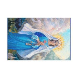 Virgin do impressão das canvas do salvação