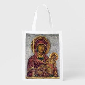 Virgin e criança 3 sacolas reusáveis
