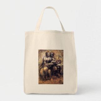 Virgin e criança com esboço de St Anne Bolsa Para Compras