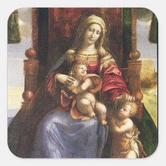 Virgin e criança com o St John infantil Adesivo Quadrado