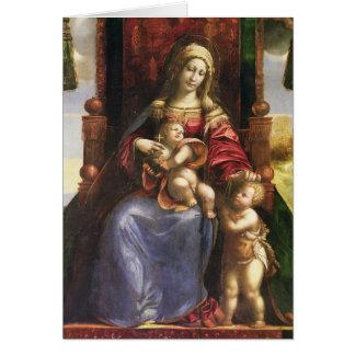 Virgin e criança com o St John infantil Cartão Comemorativo