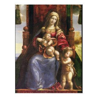 Virgin e criança com o St John infantil Cartão Postal