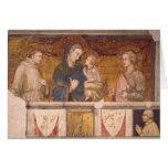 Virgin e criança com St Francis e St John Cartão Comemorativo