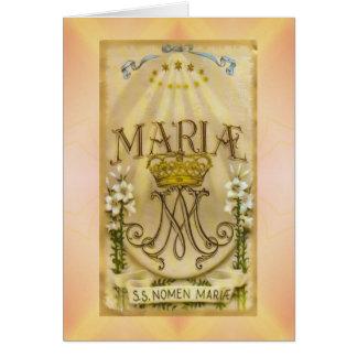 Virgin religioso de Mary do cartão