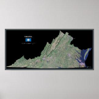 Virgínia do poster do satélite do espaço