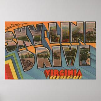 Virgínia - movimentação do Céu-Line - grande letra Poster