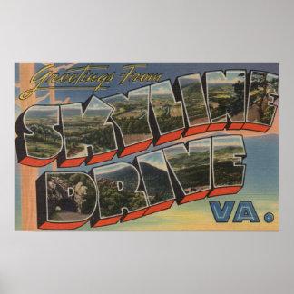 Virgínia - movimentação do Céu-Line (parque nacion Poster