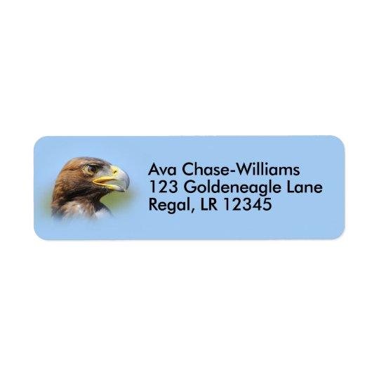 Visão de Eagle dourado novo bonito Etiqueta Endereço De Retorno