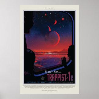 Visão do poster futuro: Planeta Trappist-1e