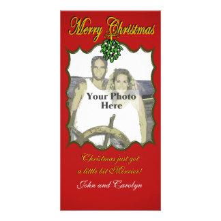 Visco do Natal Cartão Com Foto