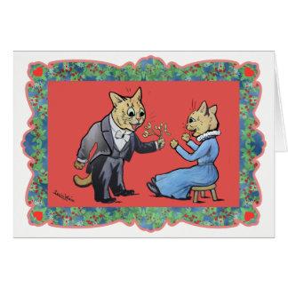 Visco para você cartão de Natal do gato por Louis