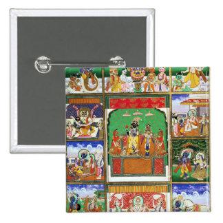 Vishnu no centro de seus dez avatars, Jaipur, R Boton