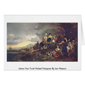 Visiapoer daqui até janeiro Weenix de Johan Van To Cartão