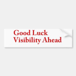 Visibilidade da boa sorte adesivo
