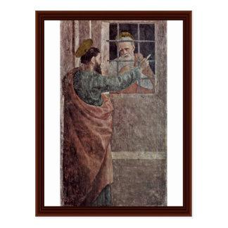 Visita de St Peter na prisão pelo St Paul Cartões Postais