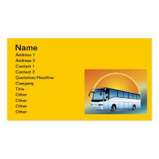 Visita do viagem do transporte do FreeVector-Ônibu Cartão De Visita