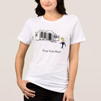VISITA VIRGEM da CASA BRANCA do TRUNFO do t-shirt Camiseta